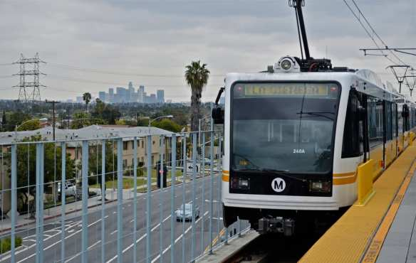 The Expo Line at the La Cienega station. Photo by Steve Hymon/Metro.