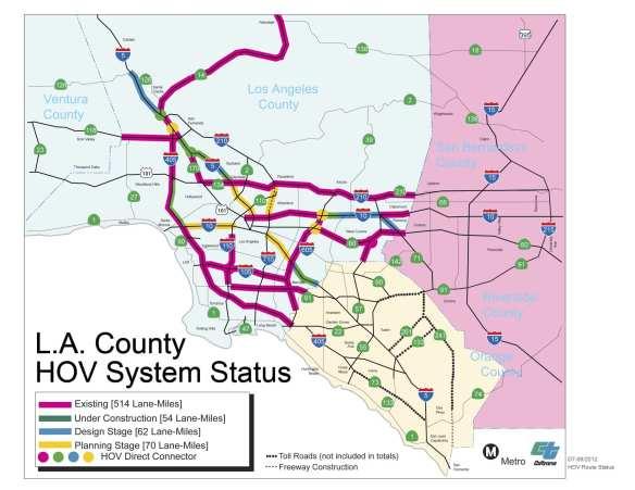 LA County HOV System Status 09_2012