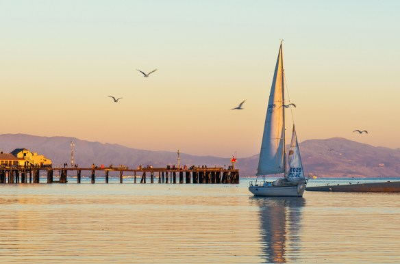 ART OF TRANSIT: We haven't had a boat pic in a while. So here's a boat pic taken from the beach in downtown Santa Barbara, easily accessible by Amtrak from Union Station, Glendale, Van Nuys and other area stops. Photo by Steve Hymon.