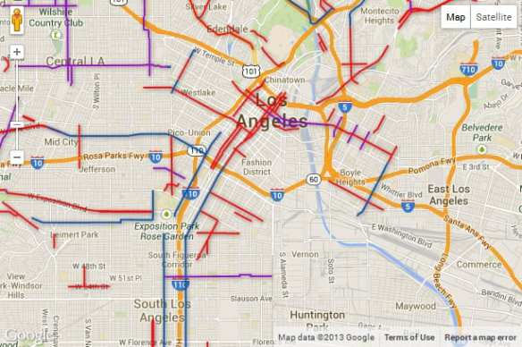 LADOT bike map