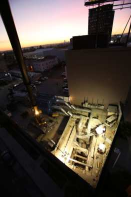 A view of the exploratory shaft from above. Photo: Metro.