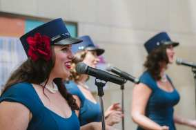The Los Angeles Muses perform in the East Portal. Photo by Steve Hymon/Metro.