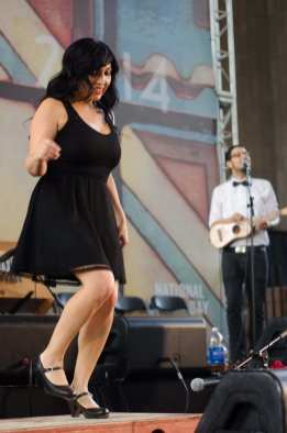 Las Cafeteras on the Main Stage in the old Ticket Room. Photo by Steve Hymon/Metro.