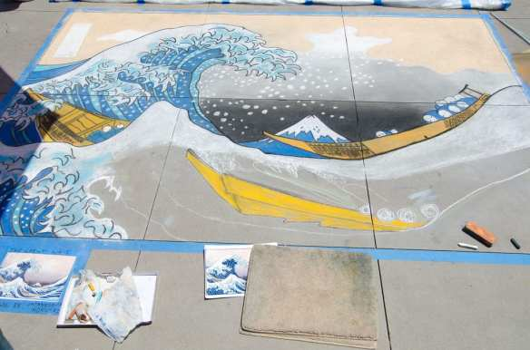 A standout from last year's Pasadena Chalk Festival at Paseo Colorado, captured by Scrubhiker via Flickr/Creative Commons. This annual event was the recipient of a Guinness World Record for largest art event of its kind in 2010, and takes place this Saturday - Sunday.
