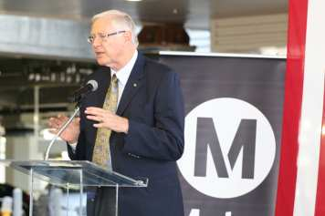 Metro Board Member Mike Antonovich at the grand opening. Photo: Paul Gonzales/Metro