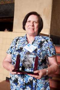 Kay Gonzales, winner of the Transit Ambassador Award. Photo: Josh Southwick/Metro