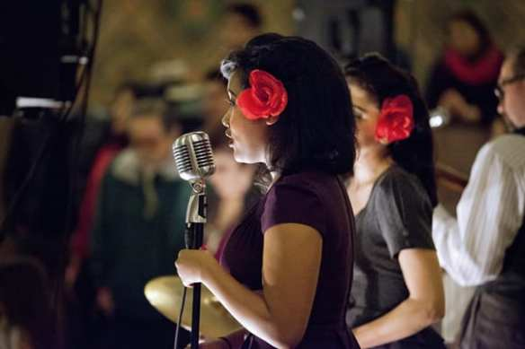 Part of the Independent Shakespeare Co., Dr. Pinch and the Pinchtones performed 1940s era swing music