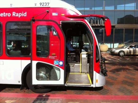 Today's Metro buses feature low-floor designs for faster, easier boardings and alightings.