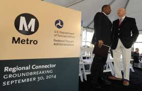 Secretary Foxx and Metro Board Member and Supervisor Mike Antonovich.