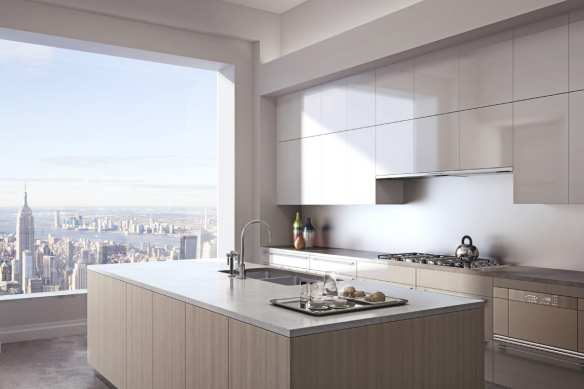 A pretty ordinary looking kitchen at 432 Park Avenue if you ask me. Photo: 432 Park Avenue website.