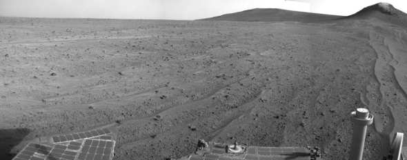 A view of Mars captured by NASA's Opportunity rover last year. Photo: NASA/JPL- Caltech.