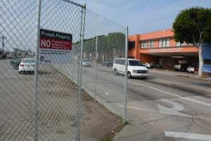 Redondo Boulevard parking lot where Crenshaw/LAX Florence/West Station will be located.