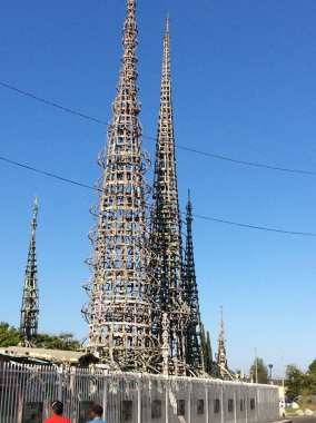 Watts Towers as captured by Gloria Brown, Flickr/CC
