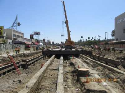 Excavation began at the MLK/Vernon station in May. Photo: Metro.