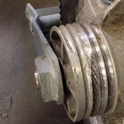 Two worn parts identified for replacement during recent Gold Line maintenance.