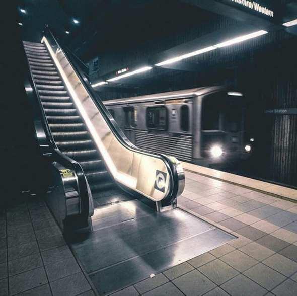 7th St / Metro Center Station. Photo via Instagram @losangeles.