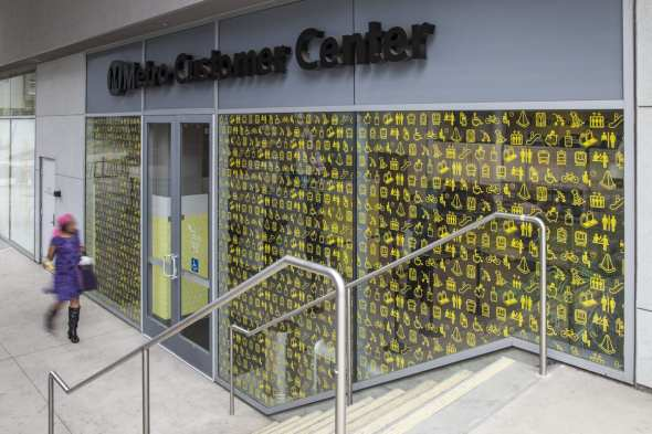 The new Customer Center at Wilshire/Vermont Station.