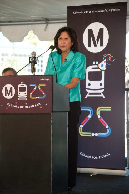 Metro Board Member and L.A. County Supervisor Hilda Solis. Photo: Gary Leonard/Metro