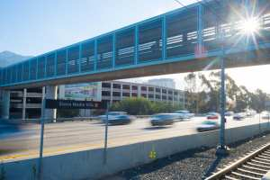 A planning conundrum: Are parking garages at transit stations the solution or the problem? Photo by Steve Hymon/Metro.