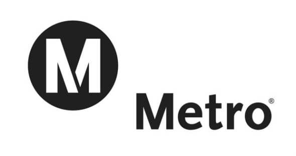 Metro's current logo.