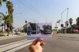 Then & Now: A streetcar in Arcadia near the new 1st and Santa Clara crossing in Arcadia. Streetcar photo by Alan Weeks.