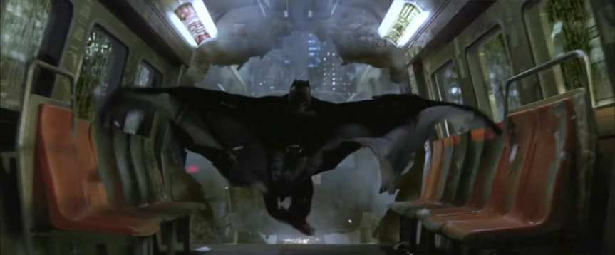 Batman saved the Gotham subway/monorail thing in the first movie of his recent trilogy. Smart!