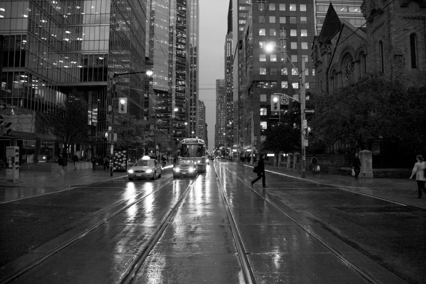Toronto in lovely black and white. Photo by Steve Harris, via Flickr creative commons.