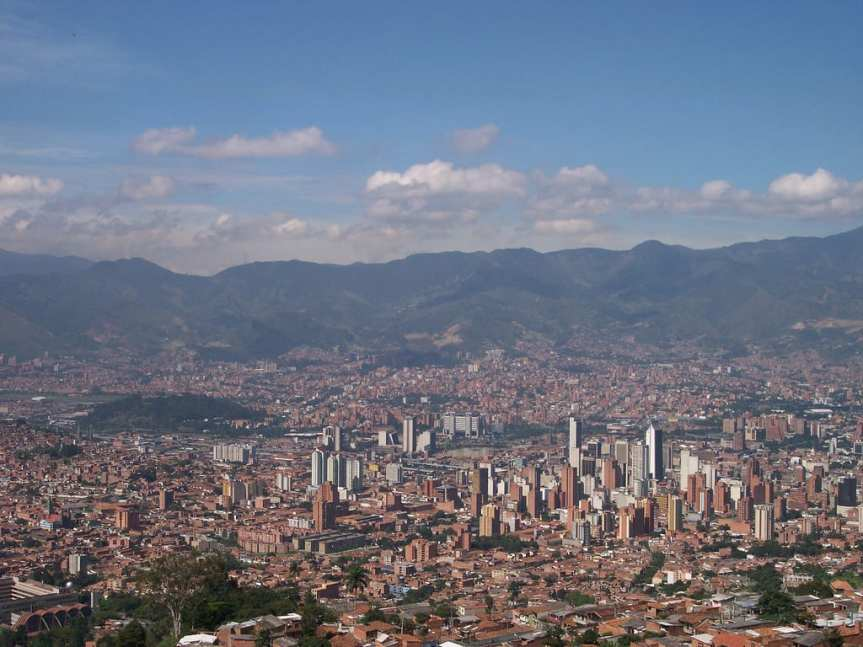 A good view of Medellin and the surrounding metro area. Photo by Jose Duque, via Flickr creative commons.