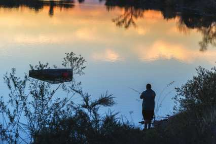 Fishing at Santa Fe Dam. Photos: Steve Hymon/Metro