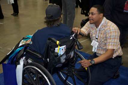 Get securement straps placed on your wheelchair. Photos: Anna Chen/Metro