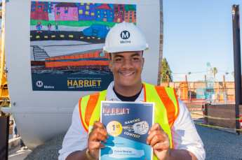 """TBM essay contest winner Calvin Mosley, who proposed the """"Harriet"""" name."""
