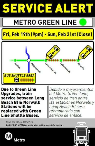Green Line Bus Bridge Feb 19-21