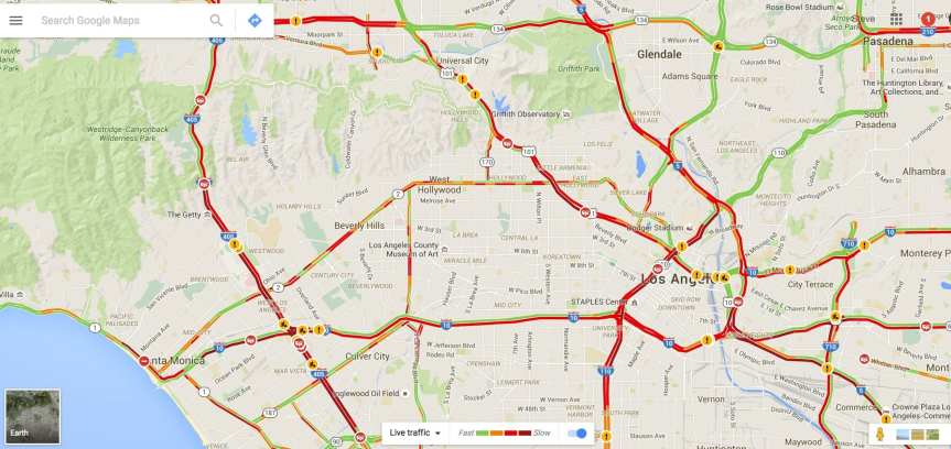 Traffic today doesn't look much different than traffic yesterday on the eastbound 10 from SaMo.