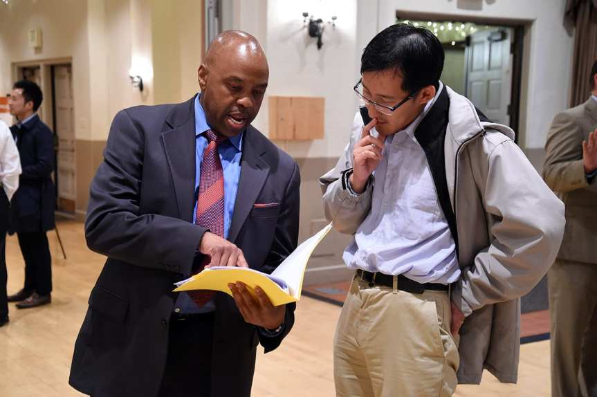 Metro CEO Phil Washington explaining the ballot measure's draft spending plan at the meeting in El Monte on Thursday night. Photo by Luis Inzunza/Metro.
