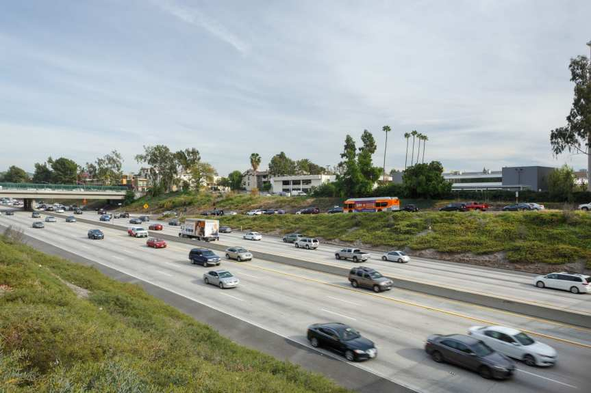 The NoHo-Pasadena Express bus service in action. Click above to learn more about the new express bus between Pasadena, Glendale, Burbank and NoHo. Photo by Peter Watkinson/Metro.
