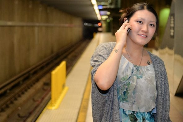 Metro's Anna Chen is happy she can now be reached by HQ even when riding underground.