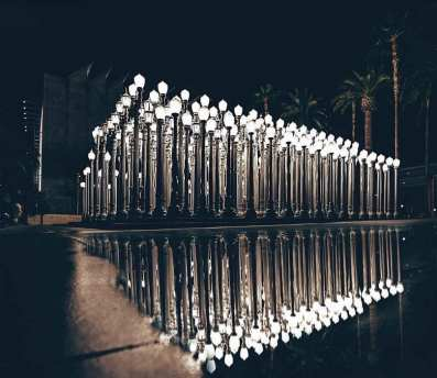 Tulip display at The Broad and Urban Lights at LACMA!
