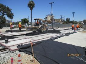 Work at the Cedar Grade crossing.