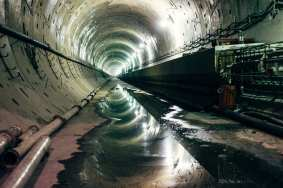 Northbound tunnel under Crenshaw Blvd.