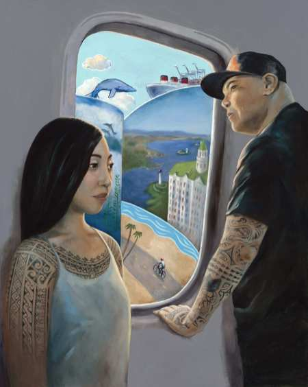 Jazmine Atienza, Last Stop, 2019, oil on canvas