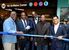Metro A Line (Blue) re-opening celebration and ribbon cutting at The Bloc on November 2, 2019.