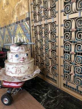 Cake On Wagon