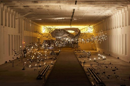 """""""In the Light of the Shadow"""" is a previous installation MASS MOCA by AMC artist Glenn Kaino."""