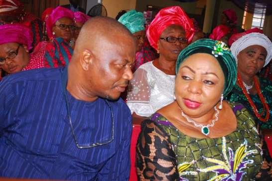 Barr. Steve Asimobi and princess Florence Ita- Giwa