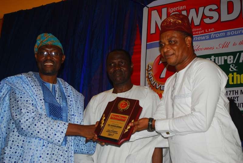 Dr.Quasim Akinreti, Prince Aderemi Adenile and Mr.Onilude Olusegun Adeniran.