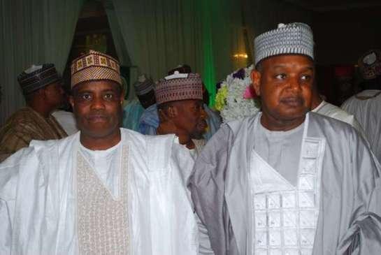 Alhaji Aminu Tambuwa,governor of sokoto state and Abubakar Atiku Bugudu,governor of kebbi state.