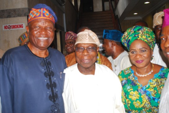 Mr. Tunde Adelaja,Chief Olusegun Obasanjo and Mrs. Dupe Adelaja