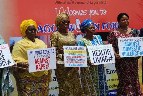 Dr. Oluranti Adebule, deputy governor,Lagos state,Mrs.Bolanle Ambode,Mrs.Abimbola Jakande and Mrs Orelope Adefulire