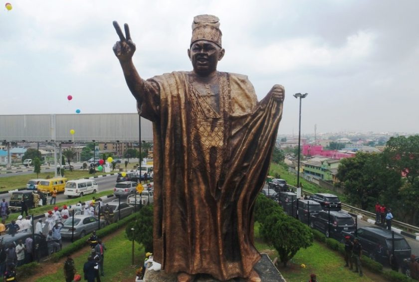 The New Statue of MKO Abiola in Ojota Lagos
