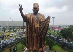 The New Statue of MKO Abiola in Ojota Lagos